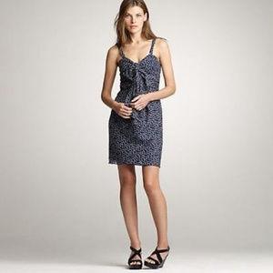J CREW Swirling Dots Dress 6 NEW $148 Navy Dot